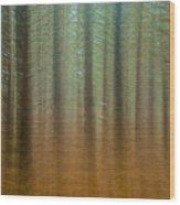 Abstract Pines Wood Print
