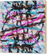 Abstract Pink Wood Print