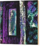 Abstract Purple Door Wood Print