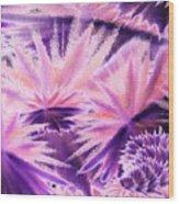 Abstract Purple Flowers Wood Print