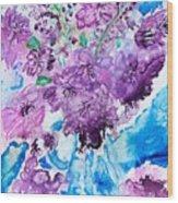 Abstract-purple Summer Wood Print