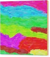 Abstract Rainbow Art By Adam Asar 3 Wood Print