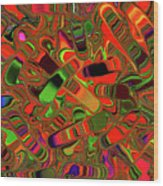 Abstract Rainbow Slider Explosion Wood Print