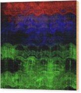 Abstract Rainbow Wood Print