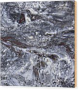 Abstract Rapids 5 Wood Print