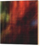 Abstract Red 1 Wood Print