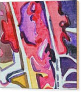 Abstract Red Bud Wood Print