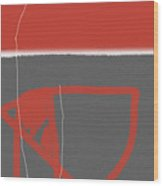 Abstract Red Wood Print