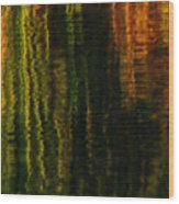 Abstract Reeds Triptych Bottom Wood Print
