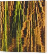 Abstract Reeds Triptych Middle Wood Print