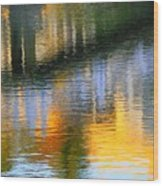 Abstract Reflection In Water 05  Wood Print