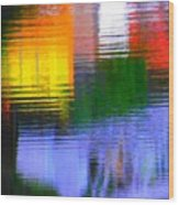 Abstract Reflections In Water 01 Wood Print