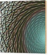 Abstract Ring Wood Print