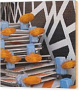Abstract Road Work Wood Print