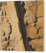 Abstract Rock With Diagonal Line Wood Print