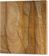Abstract Rock With Lines And Rectangles Wood Print
