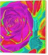 Blooming Roses Abstract Wood Print