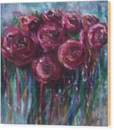 Abstract Roses Wood Print