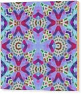 Abstract Seamless Pattern  - Blue Pink Purple Red Green Brown White Wood Print