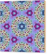 Abstract Seamless Pattern  - Blue Purple Pink Violet Lilac Orange Green Wood Print
