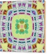Abstract Seamless Pattern  - Yellow Green Blue Purple White Gray Wood Print