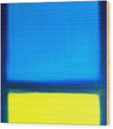 Abstract Seascape Color Field Wood Print