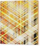 Abstract Shining Lines Wood Print