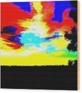 Abstract Sky Wood Print