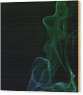 Abstract Smoke Wood Print