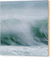 Abstract Soft Waves Wood Print