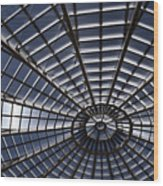 Abstract Spiderweb View Of A Central Tower Skylight At The World Wood Print