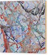 Abstract String Wood Print