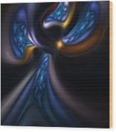 Abstract Stained Glass Angel Wood Print