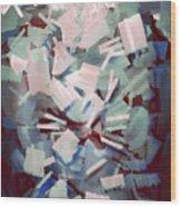 Abstract Stone Chaos Wood Print