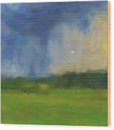 Abstract Stormy Landscape Wood Print