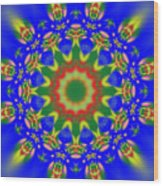 Abstract Sun 070908010102 Wood Print