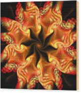Orange Sun 2 Wood Print