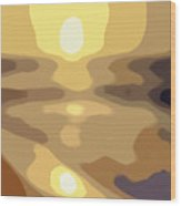 Abstract Sunset 34 Wood Print