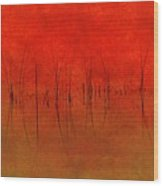 Abstract Sunset  Wood Print