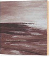 Abstract Sunset In Brown Reds Wood Print