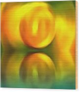 Abstract Sunset Reflection Wood Print