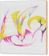 Abstract Swan Wood Print
