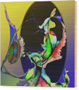 Abstract Tarot Card The Lovers Wood Print