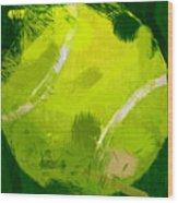 Abstract Tennis Ball Wood Print