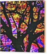 Abstract Tree 304 Wood Print