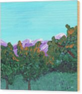 Abstract Trees Wood Print
