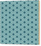 Abstract Turquoise Pattern 2 Wood Print