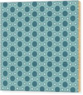 Abstract Turquoise Pattern 3 Wood Print