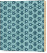 Abstract Turquoise Pattern 4 Wood Print