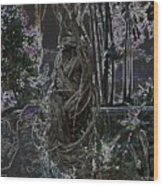 Abstract Twisted Tree Wood Print